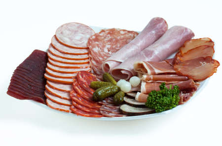 user friendly: Various cold cuts and cheese for raclette