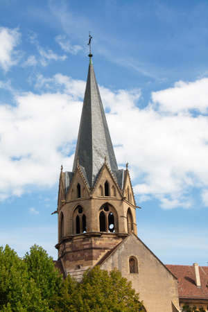 haut: Church of Our Lady of the Assumption in Rouffach, Alsace, Haut Rhin