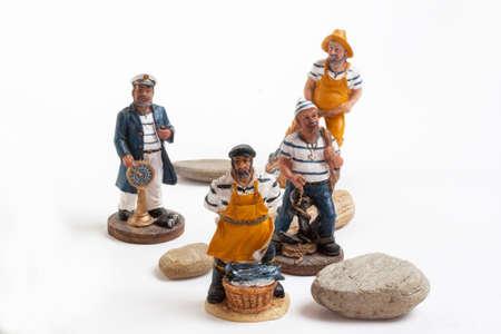 reduces: Model reduces sailor fisherman