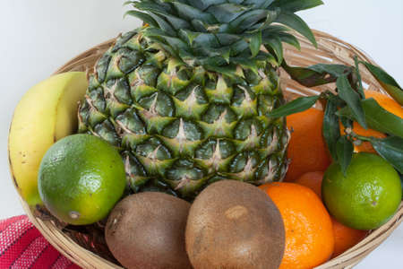 pip: DIFFERENT exotic fruits in a basket