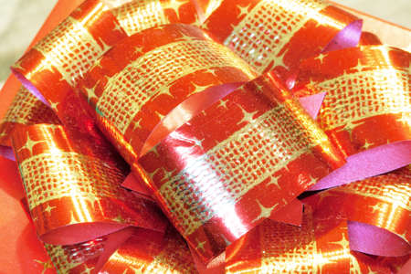 node: Node red and gold Stock Photo