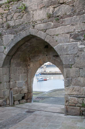 La Porte au Vin in the city wall strengthens Finistre Concarneau in Brittany - France