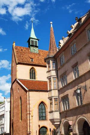 cited: Home Arcades, former presbyter, Alsace, Haut Rhin Stock Photo