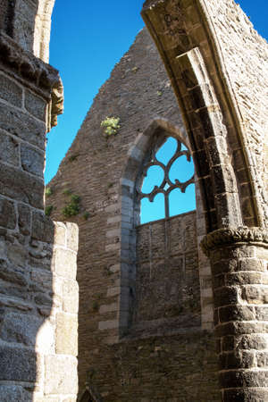 abbey ruins abbey: The ruins  's Abbey Pointe Saint Mathieu, Finistere, Brittany, France