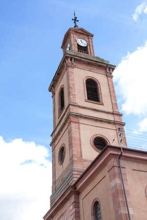 haut: Protestant Church, Colmar, Alsace, Haut Rhin, France