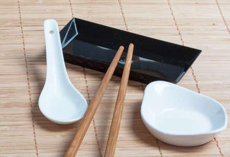 nem: Utensils for Chinese food Stock Photo