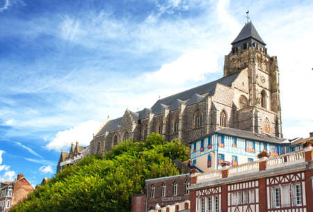 st jacques: St. Jacques Church, Le Treport, Normandy, France Stock Photo