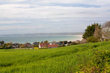 Panoramic view of Siouville Hague, Cotentin, Normandy, France photo