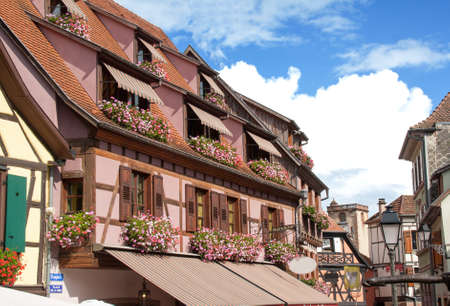 vineyard plain: Downtown Ribeauville, Alsace, Haut Rhin