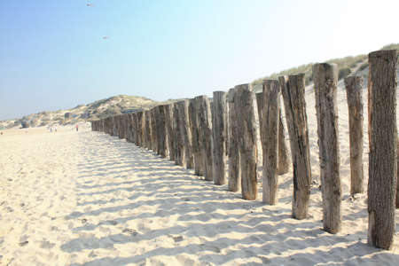 stake: Stake blade breeze by the sea in Berck Plage, Picardy, France