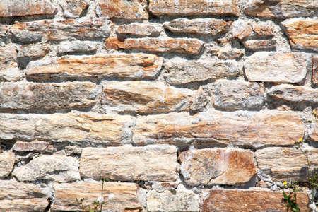 granite wall: Granite block wall