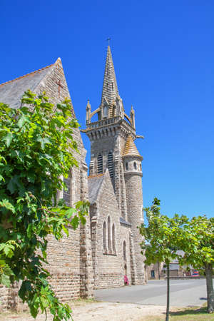 the church of our lady: Church of Our Lady of Saint Jacut of the Sea Cotes dArmor, Brittany, France
