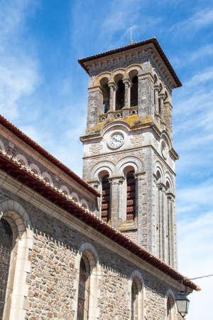 the church of our lady: The Church of Our Lady of Clisson in Loire Atlantique - France Stock Photo