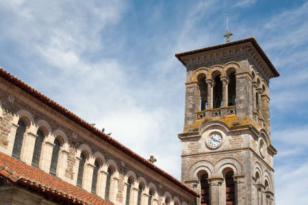 our: The Church of Our Lady of Clisson in Loire Atlantique - France Stock Photo