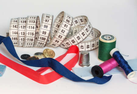 the equipment: sewing equipment