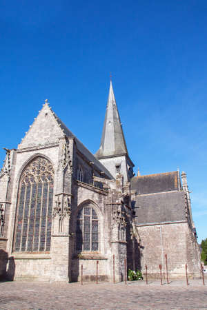 cited: The collegial Saint Aubin Guerande, Loire Atlantique, France