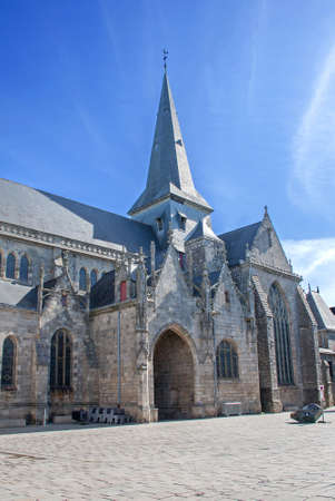 collegial: The collegial Saint Aubin Guerande, Loire Atlantique, France