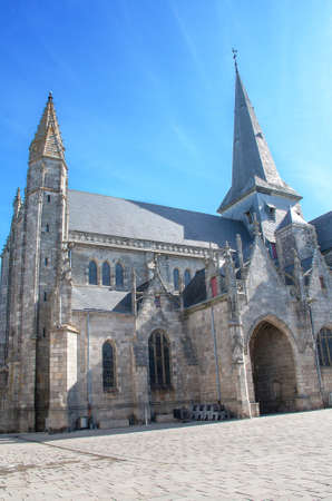 cited: The collegial Saint Aubin Guerande, Loire Atlantique, France