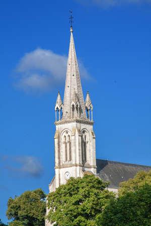 vital: The church of St. Vital Saint Viaud, Loire Atlantique, France Stock Photo