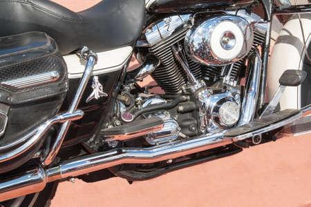 engine: Big motorcycle engine cylinder Stock Photo