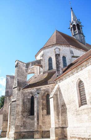 knew: The collegiate church Saint-Martin, Chablis, Yonne, France Stock Photo