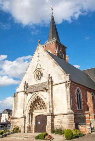 cited: Eglise Saint Nicolas, Crevecoeur le Grand, Oise, Picardie Stock Photo