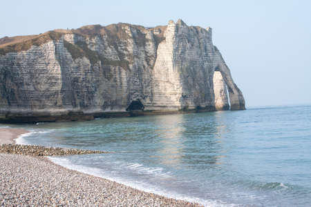 ratings: Chalk cliffs of alabaster on a Etretat in Normandy ratings Seine Maritime - France
