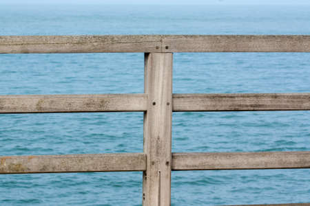 security barrier: Security barrier to the sea front Stock Photo