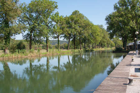 cited: Canal Champagne and Burgundy, Joinville, Haute Marne, France Stock Photo