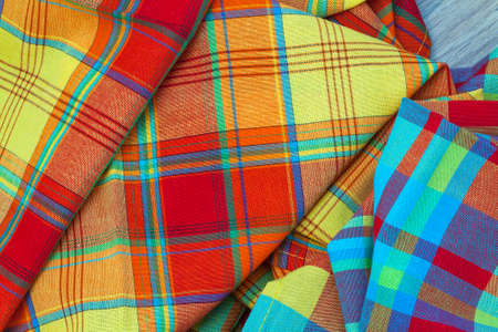 Tablecloths madras tradition of West Indian islands in bulk