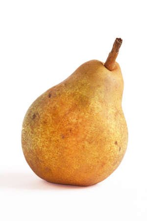 local supply: Comice pear on white background Stock Photo