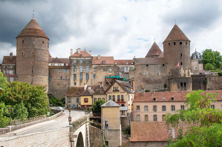 cited: General View in Semur en Auxois, Cote dOr, Burgundy, France