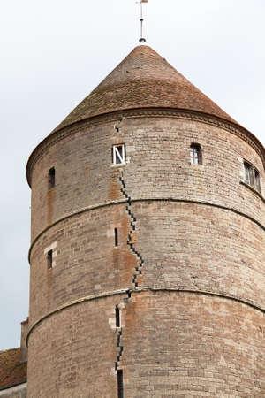 cited: The split round in Semur en Auxois, Cote dOr, Burgundy, France