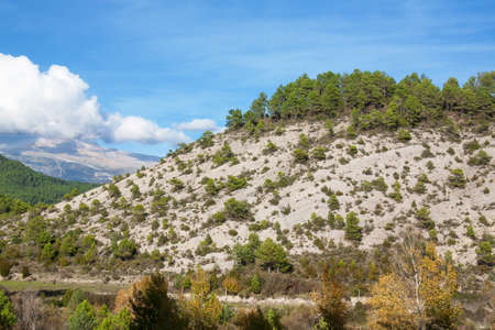 green been: Landscape pyreneen Spanish, los reserve circos, Aragon, Spain Stock Photo