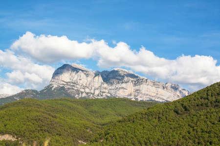 green been: Landscape pyreneen Spanish, los reserve circos, Aragon, Spain Stock Photo