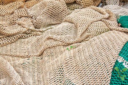 redes de pesca: Redes de pesca amontonadas