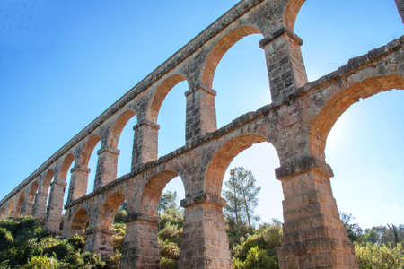 monument historical monument: Tarragona, the Devils Bridge, a historical monument, 1st century, Spain