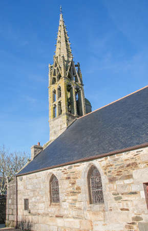 brittany: Church St. Gorgon, Plovan, Finistere, Brittany