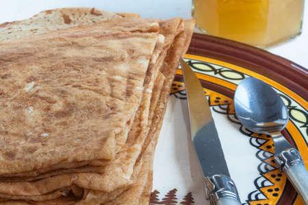 Breton pancakes on plate the Breton decor