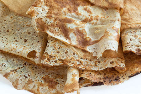local festivals: Brittany Crepes with wheat on white background