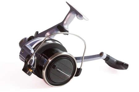 fishing reel: Fishing reel on white background