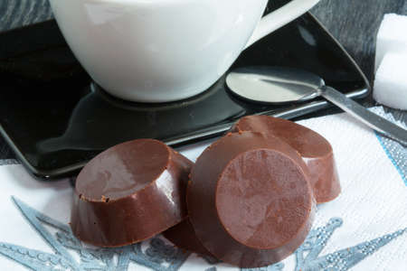 droppings: chocolate droppings and coffee cup