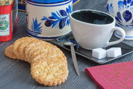 galettes: Snacks with dry cakes and galettes Stock Photo