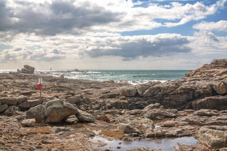 abbot: panoramic site rocks of St. Guenole, Brittany, Finistere, France