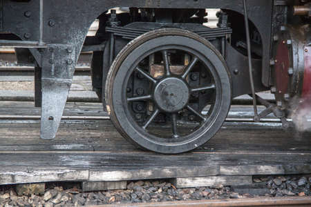 bogie: And bogie wheel on old steam locomotive