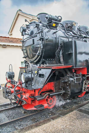 steam locomotive: Steam locomotive, historical monument, Baie de Somme, Picardy, France