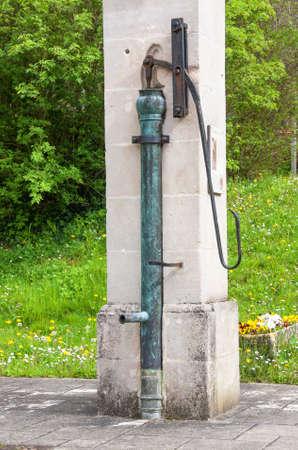 rustic: Pump rustic water Stock Photo