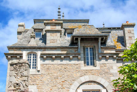 slate roof: Slate roof, Roscoff, Brittany, Finistere, France