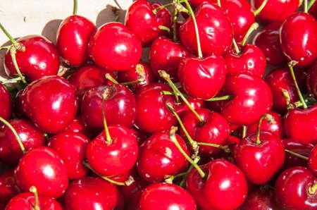 red cherries heap