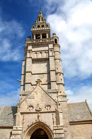 church of our lady: Church our lady of Croaz Batz Roscoff, Finistere, Brittany, France Stock Photo
